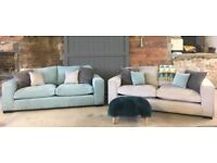 NEW Mink and Duck Egg 3 Seater Sofas, Can Deliver