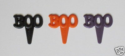 12 Boo Halloween Cup Cake Food Picks Decor Topper Kid Party Bakery Baking Supply