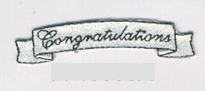 Boda Graduación Congratulations Cartel Bordado Pegatina Parche