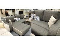 BARGAIN! CORNER SOFA BED- FABRIC-STORAGE-DELIVERY AVAILABLE!