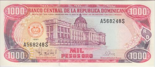 Dominican Republic Banknote P158b 1,000 1000 1.000 Pesos Oro 1997, UNCIRCULATED