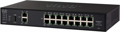 Cisco RV345-K9-NA VPN Router with 16 Gigabit Ethernet (GbE) Ports plus Dual WAN