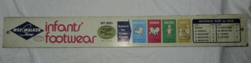 Vintage Wee Walker Shoes Store Advertising sign for Infants
