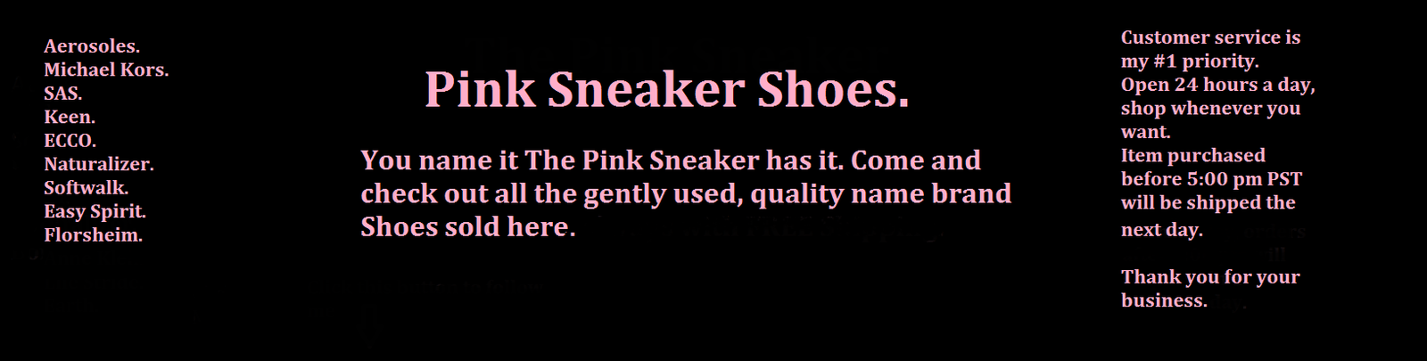 The Pink Sneaker.