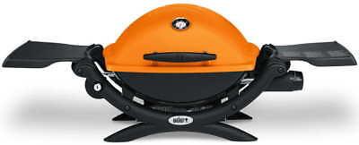 Barbacoa Weber Q 1200 naranja - gas
