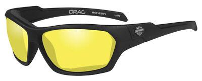 Harley-Davidson Men's Drag Gasket Sunglasses, Yellow Lens / Black Frames HADRA13