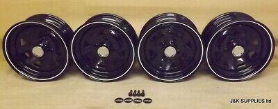 CLASSIC MINI JBW W8 STEEL WHEELS - CAR SET OF 4 - 5x12 ET0 4X101.6 - NEW