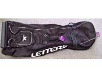 John Letters Wheeled Golf Travel Cover Bag