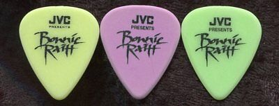 BONNIE RAITT early 1990's Concert Tour Guitar Pick SET!!! 3 concert stage Picks