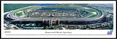 Speedway Nascar Picture - Homestead-Miami Speedway Track Florida Framed Nascar Poster Picture I
