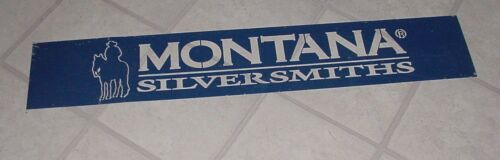 Rare Vintage Montana Silversmiths Advertising Galvanized Metal Cut out Sign 43""