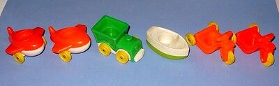 VINTAGE FISHER PRICE LITTLE PEOPLE RIDE ON TOYS VEHICLES VGC