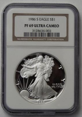 Silver Eagle Pf 69 Ultra Cameo Ebay
