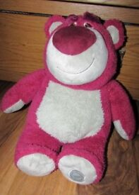 "Disney Lotso Strawberry Scented Plush Soft Toy Approx 16"" Tall Bear Toy Story Lots-o-hugging Plush"