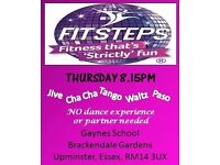 Fitsteps - Upminster. Latin and ballroom fitness classes inspired from Strictly Come Dancing