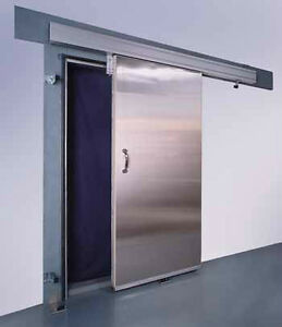 manual sliding  or swing cooler or freezer doors