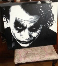Joker painted canvas