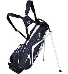 NEW-2012-TAYLORMADE-MICRO-LITE-3-0-GOLF-STAND-CARRY-BAG-NAVY-WHITE