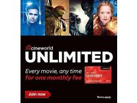 Cineworld Unlimited Card Brand New 12 Months includes 2d and 3d movies