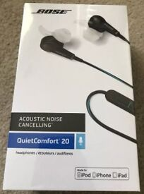 Bose QC20i Acoustic Noise Cancelling Headphones (Brand New: Still in Box)