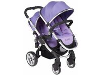 I Candy 2 lilac double buggy with additional pram for baby