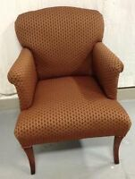 474: An Elegant Lady's Chair (Arm & Tub), New Upholstery $425