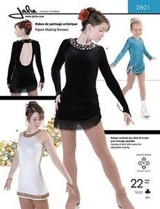 Jalie 2801 Ice Figure Skating Dress Adjustable Ruching Costume Sewing Pattern