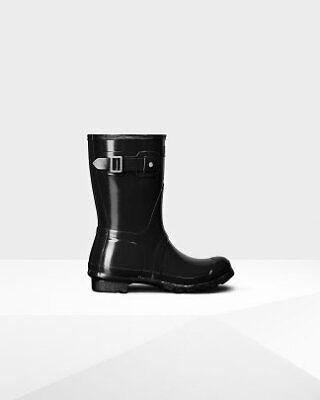 Hunter Boots Glossy (HUNTER WOMENS ORIGINAL SHORT GLOSSY RAIN BOOT MULTIPLE)