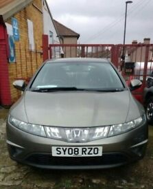 HONDA CIVIC 5 DOORS MANUAL IN EXCELLENT CONDITION. MOT TILL JULY 2018. GOOD RUNNER. VIEW IS WELCOMED