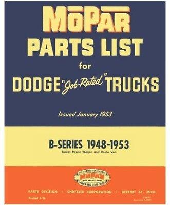 Illustrated MoPar Factory Parts Manual for 1948-1953 Dodge B-Series Trucks ()