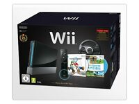 A limited edition black Wii bundle including Mario Kart Wii and all the accessories