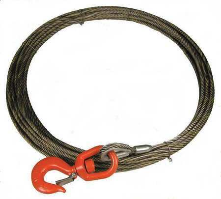 Lift-All 38Wisx75 Winch Cable, 3/8 In. X 75 Ft., Includes: Swivel Latch Hook