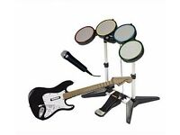 Guitar, Drums and Mic Kit with 'The Beatles RockBand' Game