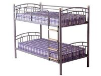 NEW Metal Bunk bed available in silver white or black