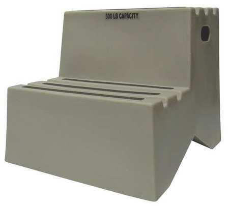 Dpi St217-07 2 Steps, Plastic Step Stand, 500 Lb. Load Capacity, Gray