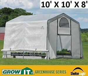 NEW GROWIT SHELTER LOGIC GREENHOUSE IN A BOX 10' X 10' X 8'