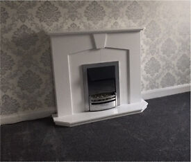 Electric fire with surround for sale