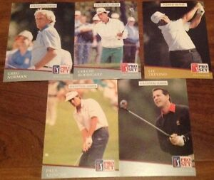 Cartes de golf PGA Tour Pro Set 1991
