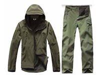 Fly / Fishing / Hiking Trousers Jacket - Army Green - Waterproof
