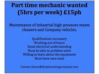 Part time Mechanic wanted