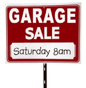 Garage Sale at Greenhill and Red Hill!