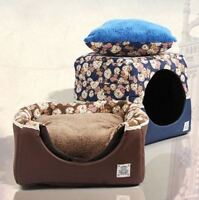 2 IN 1 NEW Summer Winter Cat Bed Dog Bed Crate Pen