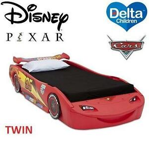 NEW* DELTA DISNEY CARS TWIN BED DISNEY / PIXAR CARS RED CHILDREN BED WITH LIGHTS LIGHTNING MCQUEEN 106097476