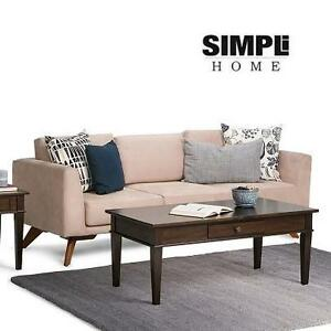 NEW SIMPLi HOME COFFEE TABLE CARLTON COLLECTION - DARK TOBACCO BROWN 104451079