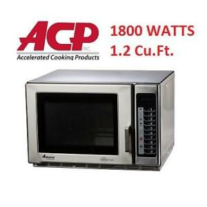 USED* COMMERCIAL MICROWAVE OVEN RFS18TS 144811720 1.2 Cu.Ft. AMANA RFS RESTAURANT LINE 1800W ACCELERATED COOKING PROD...