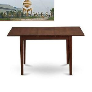 NEW EWF RECTANGULAR TABLE WITH 12 INCH BUTTERFLY LEAF - MAHOGANY FINISH 108591054