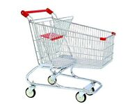 Supermarket Shopping Trolley Cart On Wheels 150 Litre