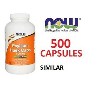NEW NOW 500CT PSYLLIUM HUSK CAPSULE 213600826 500MG VEGETARIAN VEGAN HEALTH DIET SUPPLEMENT LAXATIVE