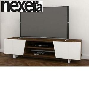 NEW* NEXERA 72 TV STAND 113146 244452161 OBLIK TRUFFLE WHITE