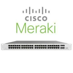 NEW CISCO MERKAI MANAGED SWITCH MS120-48LP-HW 214043840 48 PORT RACK MOUNT CLOUD MANAGED NETWORKING